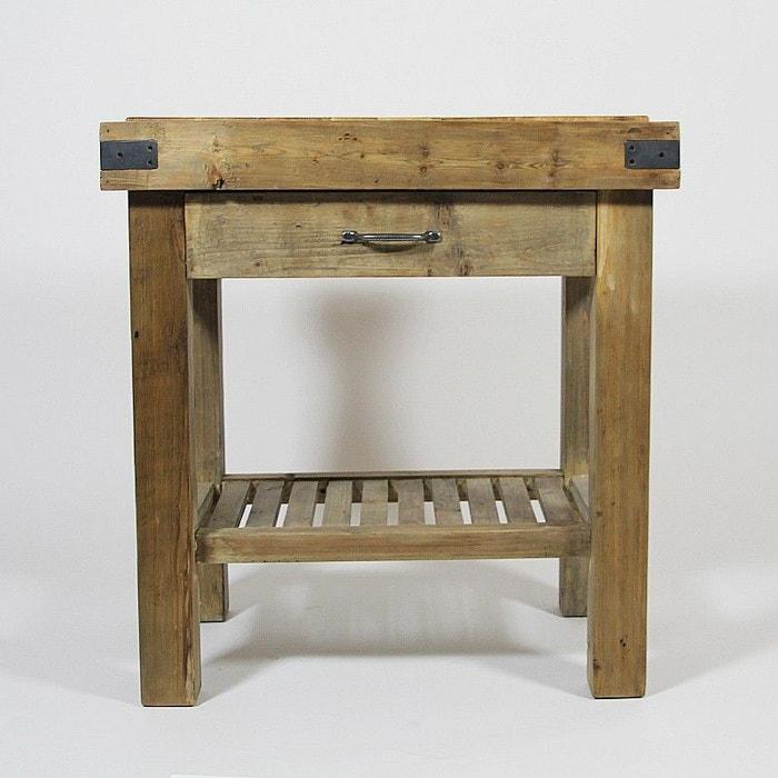 meuble cuisine bois recyclé authentiq style billot 74 cm | j11 pin ... - Meuble Cuisine Modulable