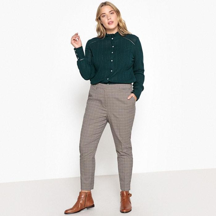 Pantalon droit à carreaux Prince de Galles  CASTALUNA image 0