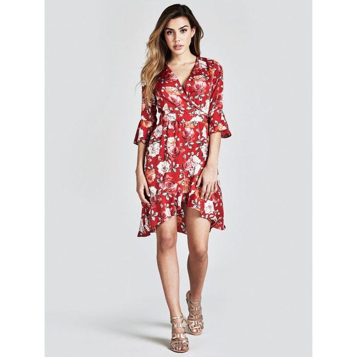 b77cd3d2279 Robe imprimé à fleurs rouge multi Guess
