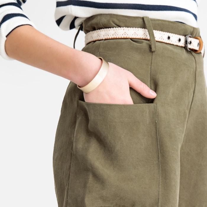 11300b350 Short de cintura alta caqui See U Soon