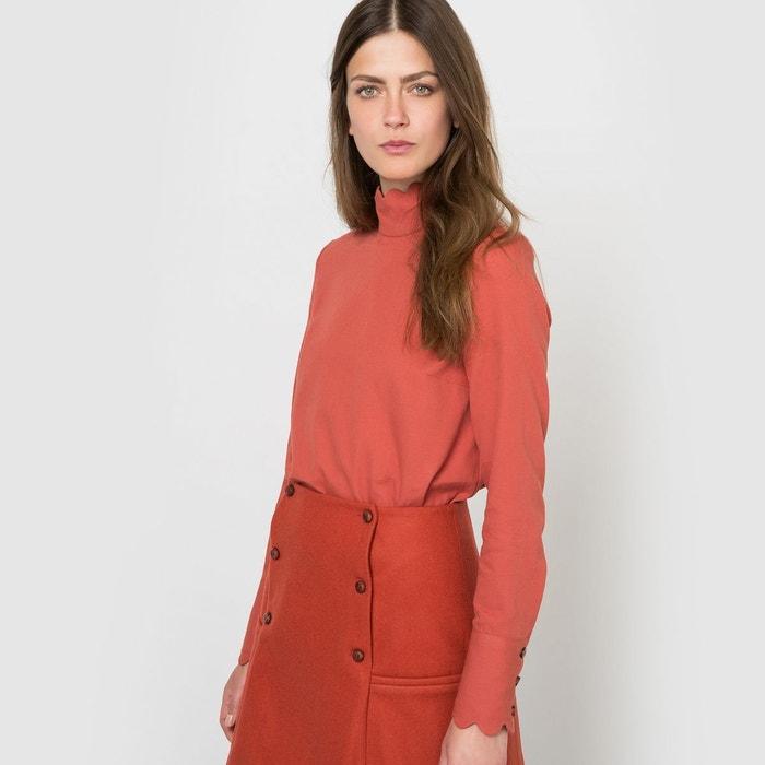 blouse manches longues rouge brique coralie marabelle x la redoute madame la redoute. Black Bedroom Furniture Sets. Home Design Ideas