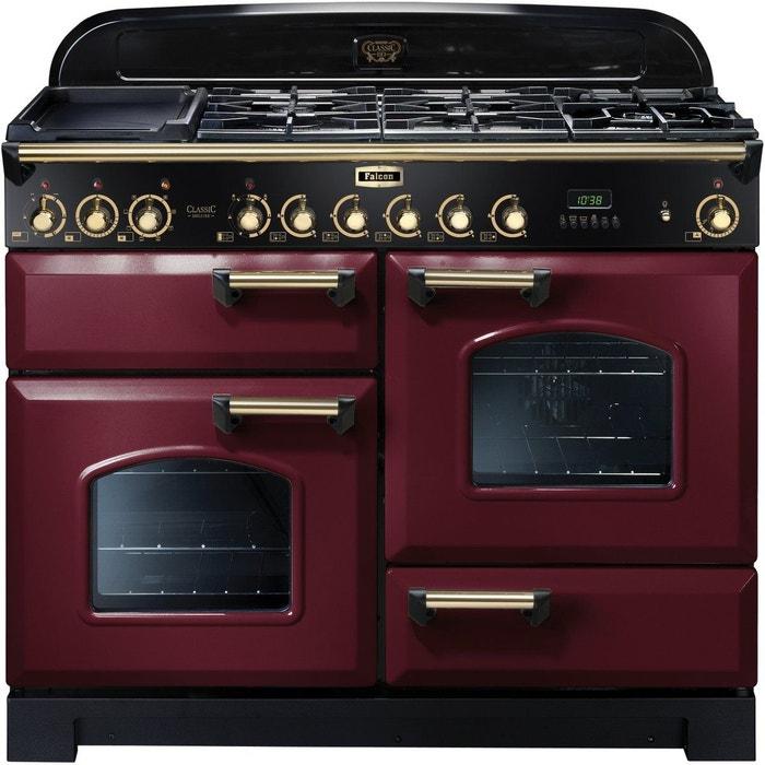 piano de cuisson gaz delux110 mixt rouge laiton couleur unique falcon la redoute. Black Bedroom Furniture Sets. Home Design Ideas