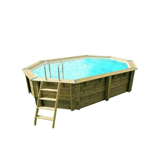 Piscine bois sunwater 4 90 x 3 00 x 1 20 m liner beige for Liner piscine 4 50 x 1 20