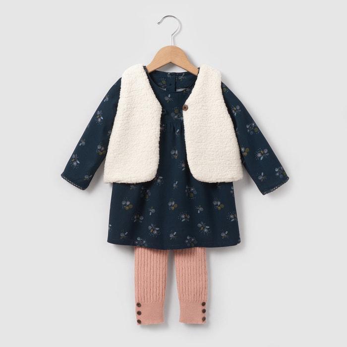 фото Комплект: жилет, платье и леггинсы  1 мес-3 лет R mini
