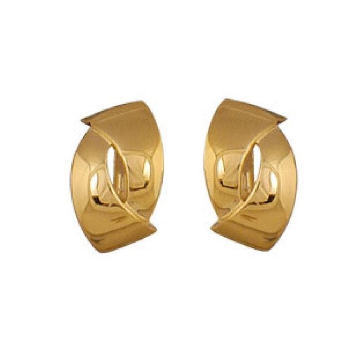 Boucles d'oreilles à clip femme forme fantaisie plaqué or 750 couleur unique So Chic Bijoux   La Redoute Traite La Vente En Ligne Vente 2018 Nouveau lgXbHWUk