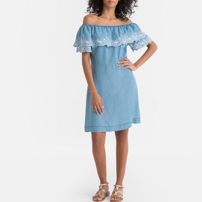 aaeb6f3c5 Vestido recto de lyocell tati azul denim Pepe Jeans