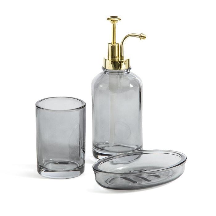 Lisia Smoked Glass Bathroom Set Smoky Grey La Redoute Interieurs La Redoute