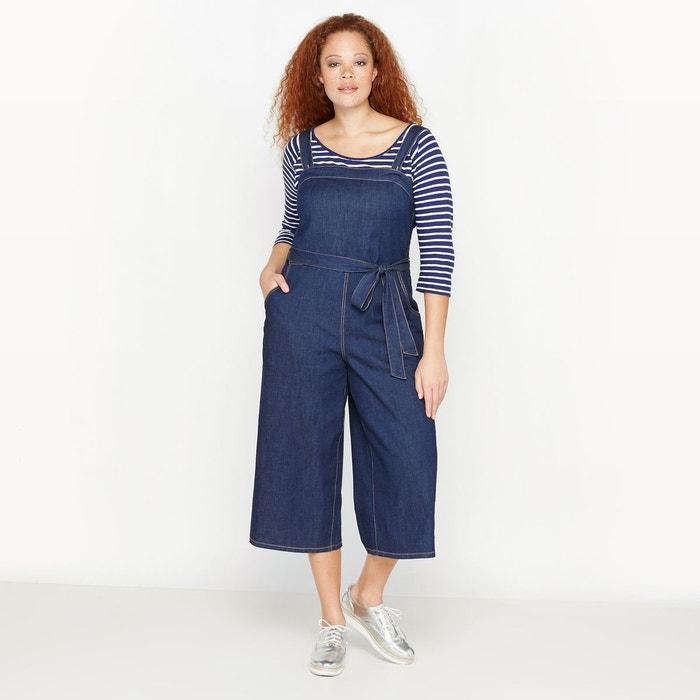 combinaison pantalon denim bretelles bleu stone castaluna la redoute. Black Bedroom Furniture Sets. Home Design Ideas