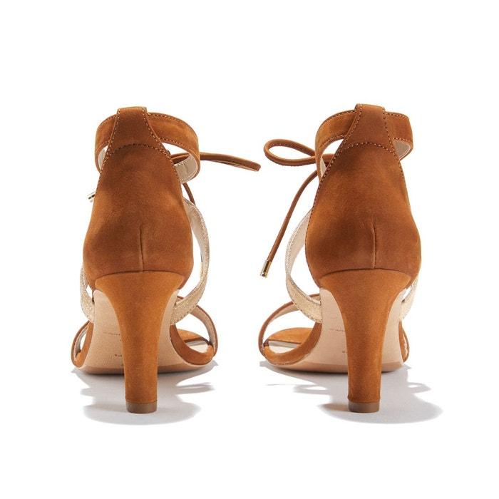 Sandales à talon aiguille en nubuck LINOUBLIABLE - BOBBIES - NoisetteBobbies GIdL87K