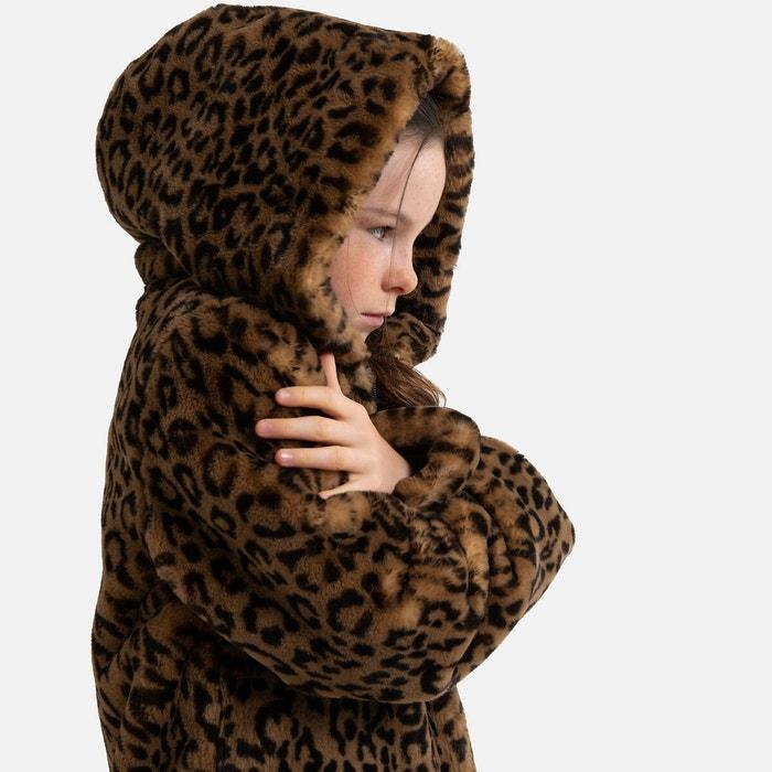 Brown faux fur collar 30 inch