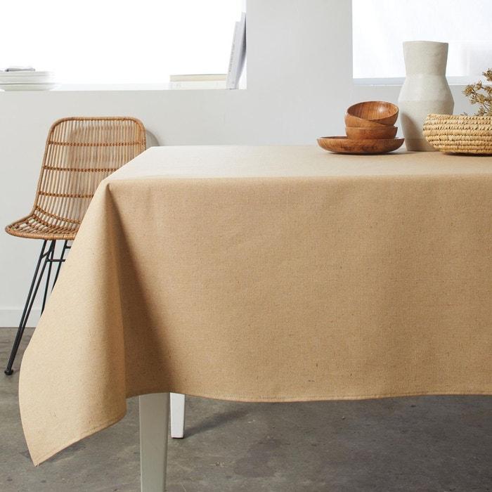 nappe rectangulaire polyester thea beige beige madura la. Black Bedroom Furniture Sets. Home Design Ideas