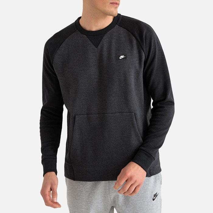 official photos 88a0d 5a0ec Sweat col rond optic fleece gris, noir Nike   La Redoute