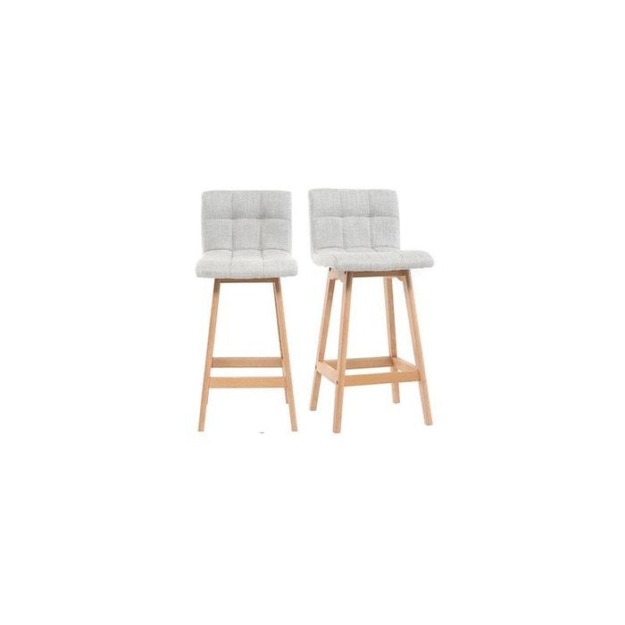 tabouret de bar klaris tdb 65cm gris perle miliboo la redoute. Black Bedroom Furniture Sets. Home Design Ideas