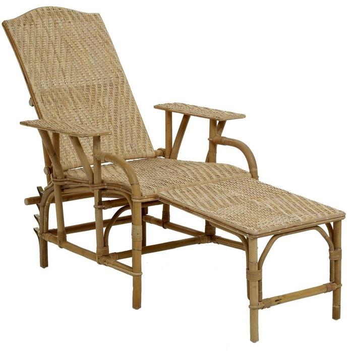 chaise longue en rotin grand m re kok la redoute. Black Bedroom Furniture Sets. Home Design Ideas