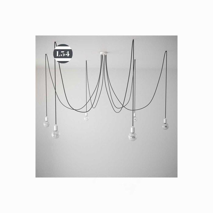 grande suspension 6 fils textile l34 la redoute. Black Bedroom Furniture Sets. Home Design Ideas