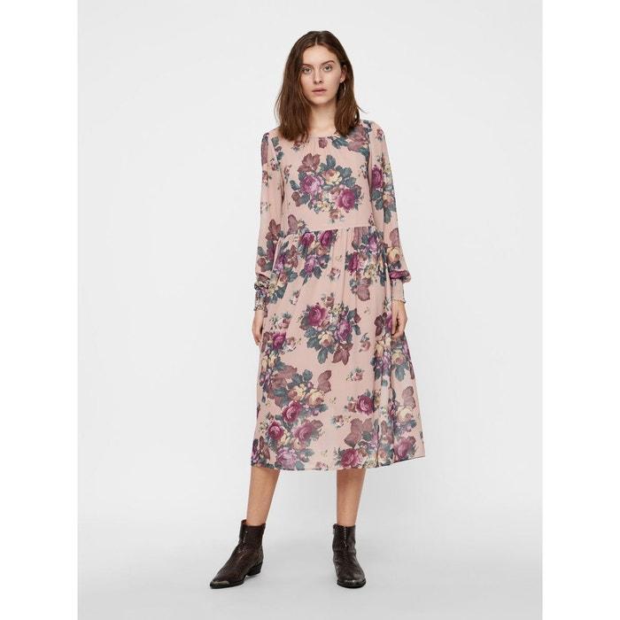 Misty Rose Manches À La Moda Fleurs Redoute Robe Longues Vero pxI7wqpX4 c156cdaad3b