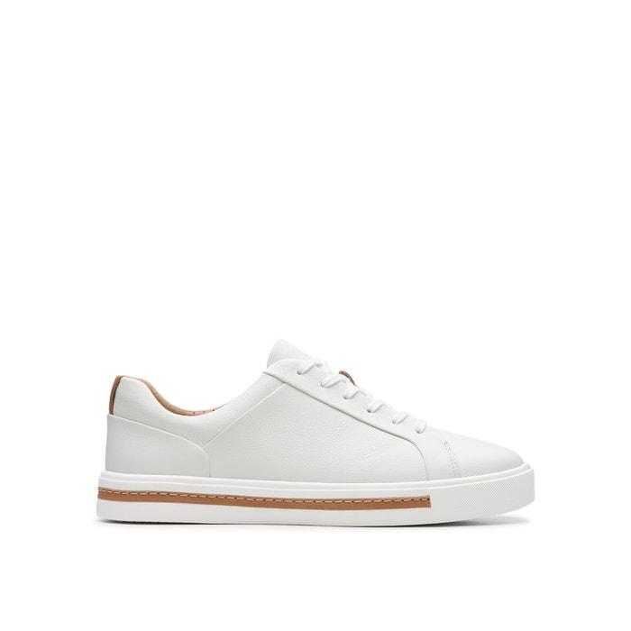 9aa516c87c1833 Un maui lace leather trainers , white, Clarks   La Redoute