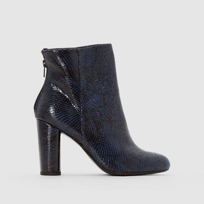 Image Heeled Python Print Ankle Boots MADEMOISELLE R