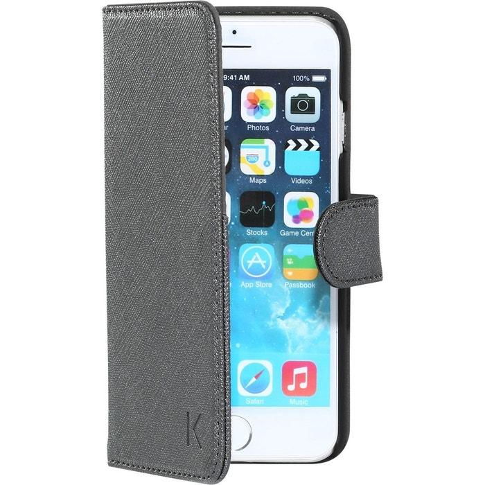 coque clapet pour apple iphone 6 4 7 pouces avec miroir et pochette cb the kase la redoute. Black Bedroom Furniture Sets. Home Design Ideas