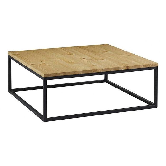 Grande table basse m tal et bois naturel jardindeco la redoute - Table basse scandinave la redoute ...