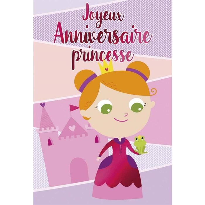 Carte Joyeux Anniversaire Princesse Multicolore Draeger La Carterie