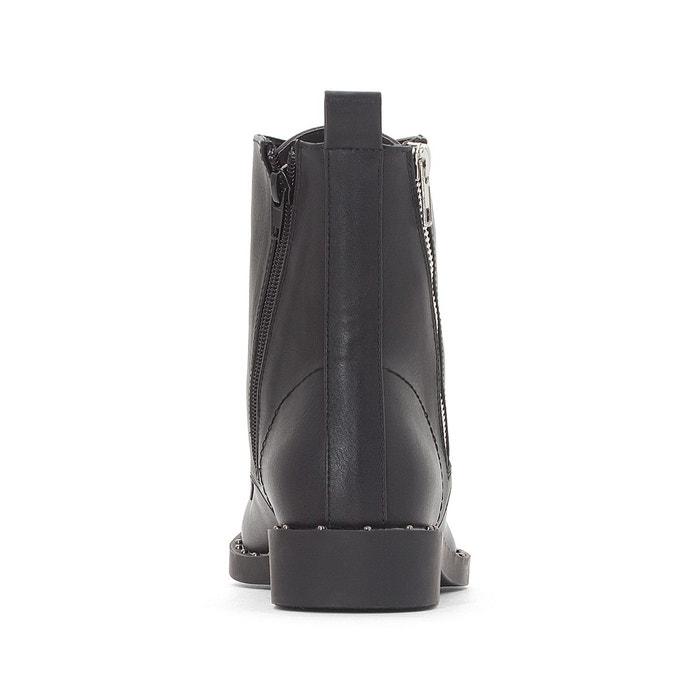 Boots détail clous noir La Redoute Collections