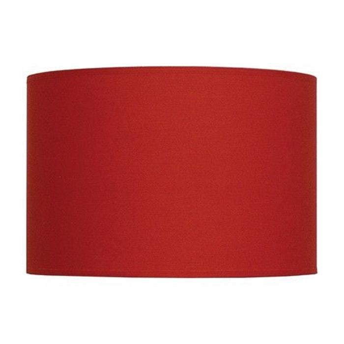 abat jour cylindre a la carte rouge en tissu rouge keria la redoute. Black Bedroom Furniture Sets. Home Design Ideas