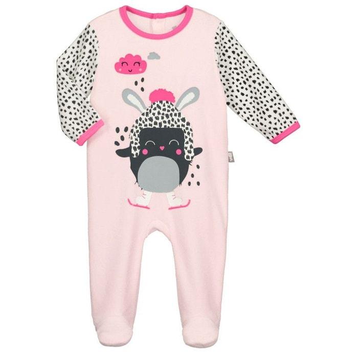 09602c35b112b Pyjama bébé velours rose bulle de coton rose Petit Beguin