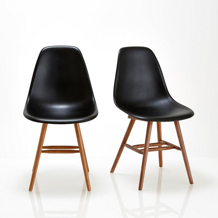 Imagen de Silla con asiento de plástico (lote de 2), Watford La Redoute Interieurs