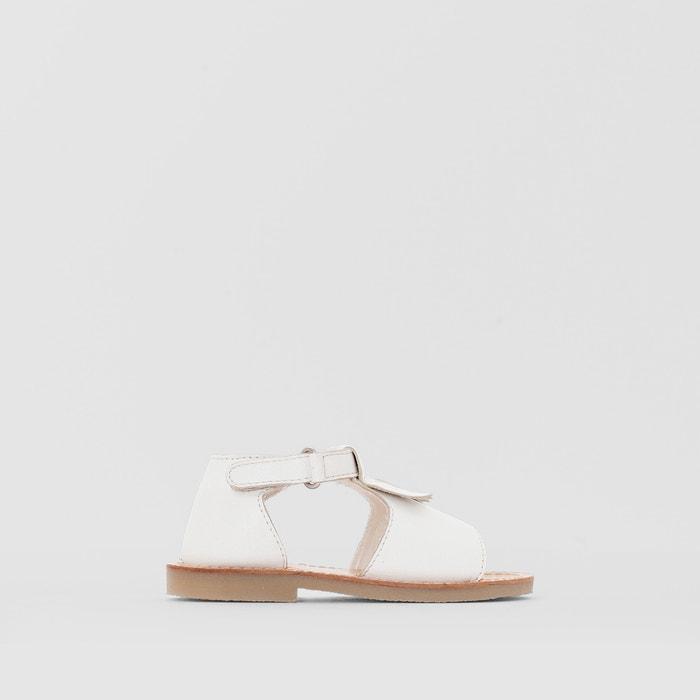 Sandálias em pele, com franjas La Redoute Collections