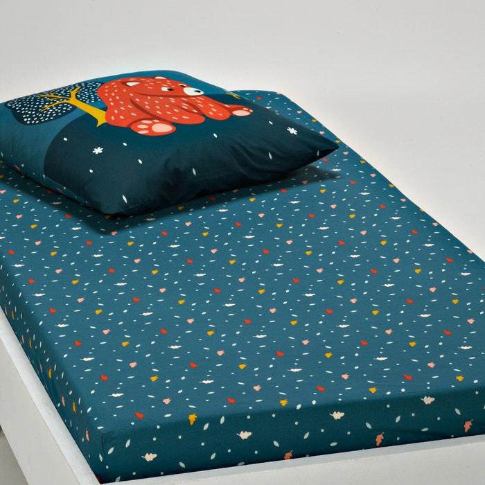 drap housse enfant orsi bleu multicolore la redoute. Black Bedroom Furniture Sets. Home Design Ideas