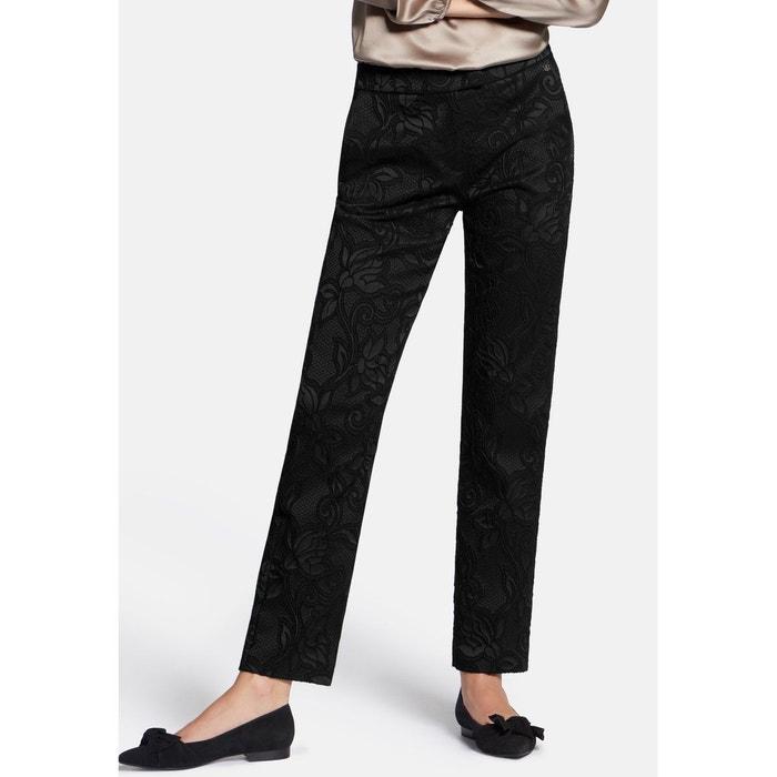 Tissu Noir BaslerLa Slim Pantalon Leg En Redoute tsQdCxhr