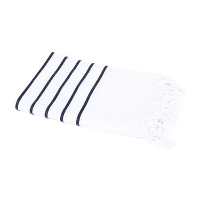 fouta pestamal mariniere blanc blanc harmony la redoute. Black Bedroom Furniture Sets. Home Design Ideas