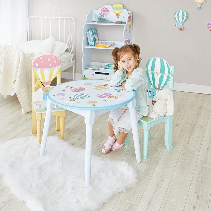 Table Enfant En Bois Montgolfiere Bleu Fantasy Field La Redoute