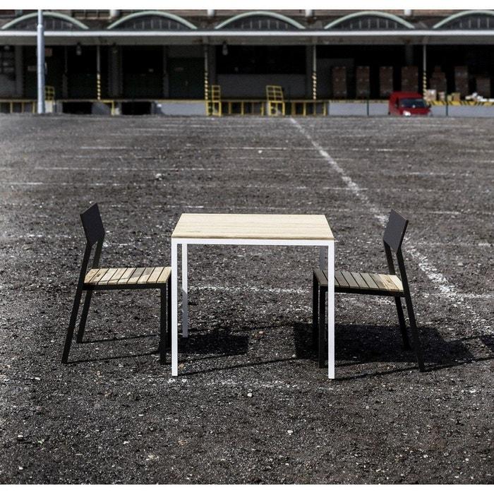 Spcial Balcon Ensemble EGOE Table Et 2 Chaises CORA En Aluminium Acacia SEANROYALE Image 0