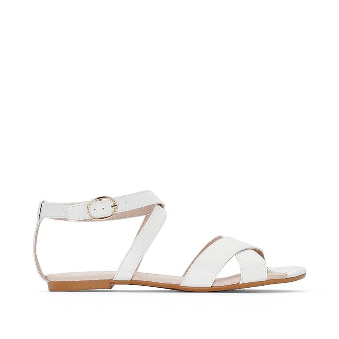 Image Flat Sandals with Metal Detail Sole R essentiel
