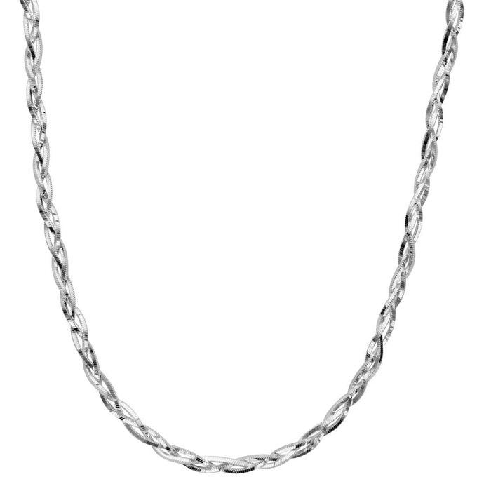 Collier femme 42 cm maille tressée 3,5 mm argent 925 couleur unique So Chic Bijoux | La Redoute