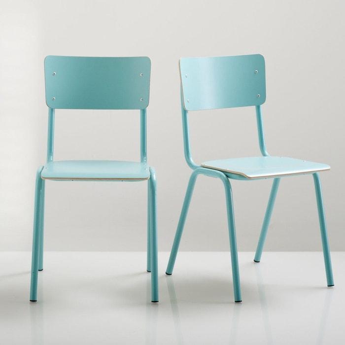 chaise d 39 colier lot de 2 hiba bleu la redoute interieurs la redoute. Black Bedroom Furniture Sets. Home Design Ideas