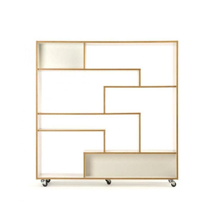 biblioth que design graphique roulettes southbury blanc. Black Bedroom Furniture Sets. Home Design Ideas