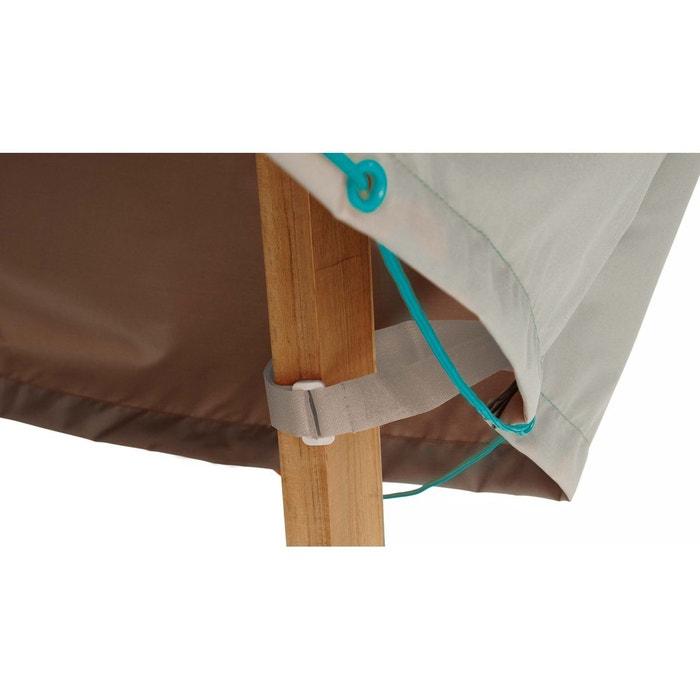 Housse de protection table de jardin ronde 160 cm gris Oviala   La ...