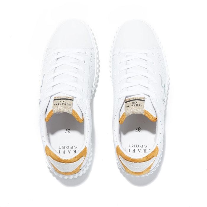 Baskets madison perforated white & gold blanc Serafini
