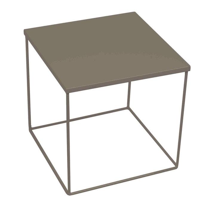 table de chevet acier kube gris clair madura la redoute. Black Bedroom Furniture Sets. Home Design Ideas