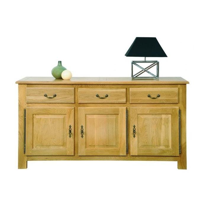 buffet 3 portes en chene clair mansart ch ne clair hellin depuis 1862 la redoute. Black Bedroom Furniture Sets. Home Design Ideas
