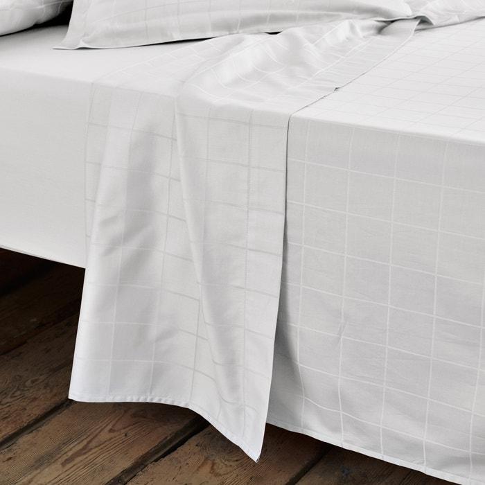 Sábana de satén de algodón con tejido de cuadros grandes  La Redoute Interieurs image 0