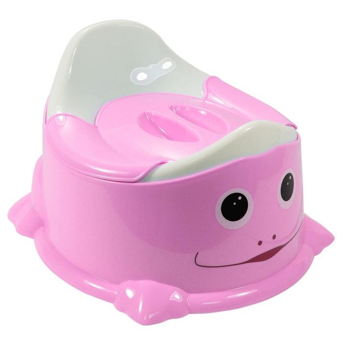 pot de toilette b b couvercle anti odeur poign e de transport rose rose monsieur bebe. Black Bedroom Furniture Sets. Home Design Ideas