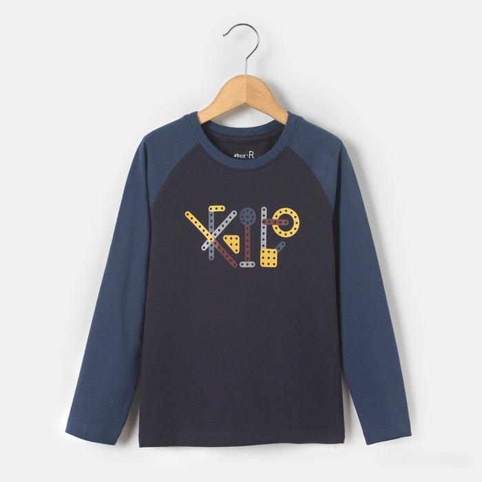 Image T-shirt manches longues imprimé mécano 3-12 ans abcd'R