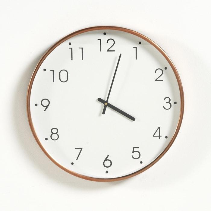 Imagen de Reloj de metal con acabado de cobre La Redoute Interieurs