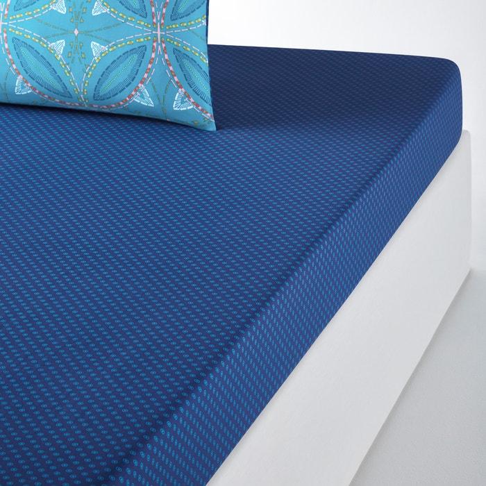 TOKONOU Micro Dot Printed Cotton Fitted Sheet  La Redoute Interieurs image 0