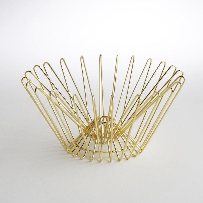 Gold-Coloured Brass Basket  La Redoute Interieurs image 0
