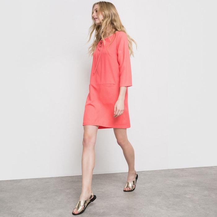Vestido curto, mangas 3/4 R essentiel